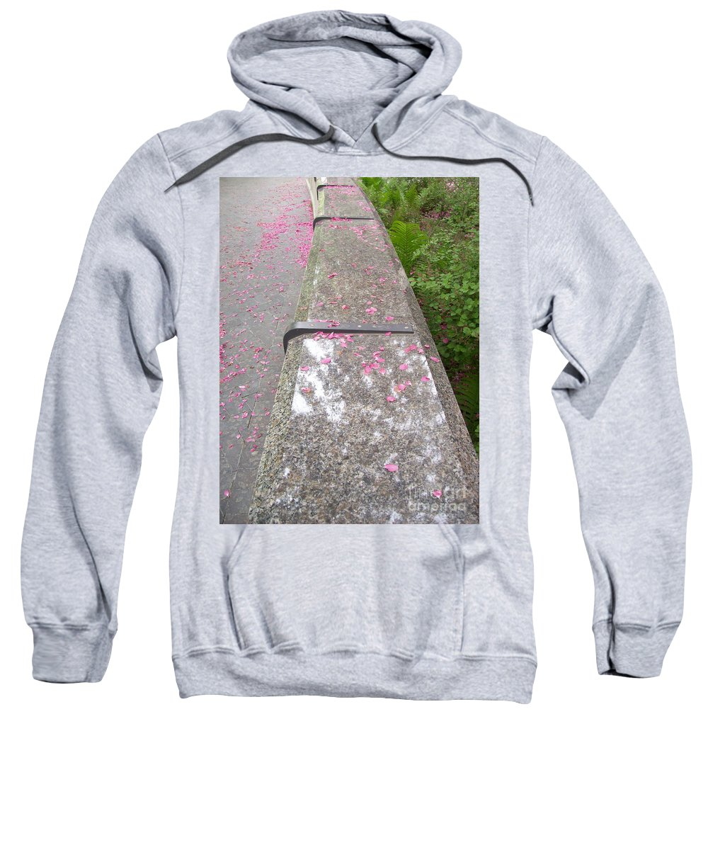 Bench Sweatshirt featuring the photograph Please Be Seated by Mary Mikawoz