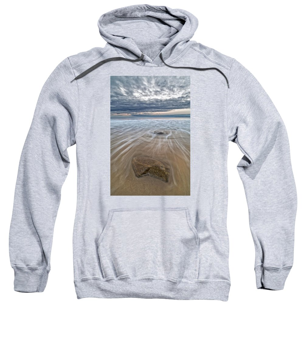 New England Sweatshirt featuring the photograph Plum Island Wave Energy by Scott Snyder