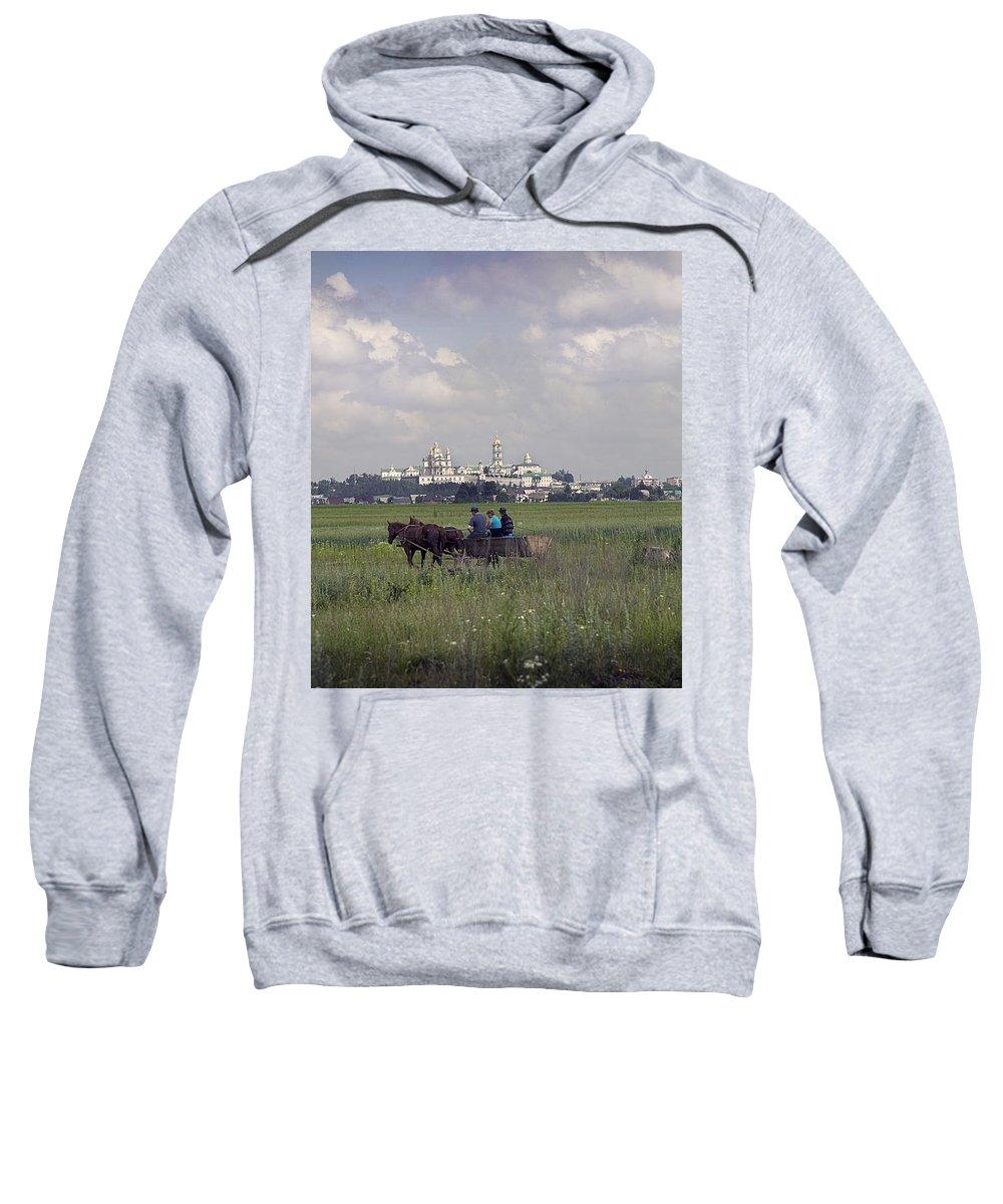 Ukraine Sweatshirt featuring the photograph Pochaiv Monastery Ukraine by Yuri Lev