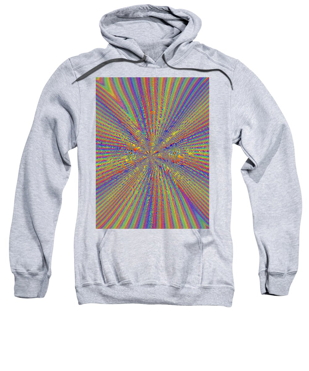 Abstract Sweatshirt featuring the digital art Point Counter Point by Tim Allen