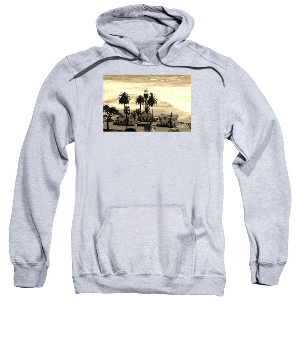 Lighthouse Sweatshirt featuring the photograph Point Loma Lighthouse by Marta Robin Gaughen