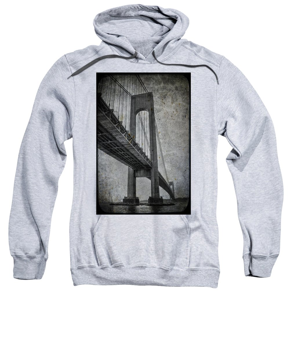 Bridge Sweatshirt featuring the photograph Point Of Origin by Evelina Kremsdorf