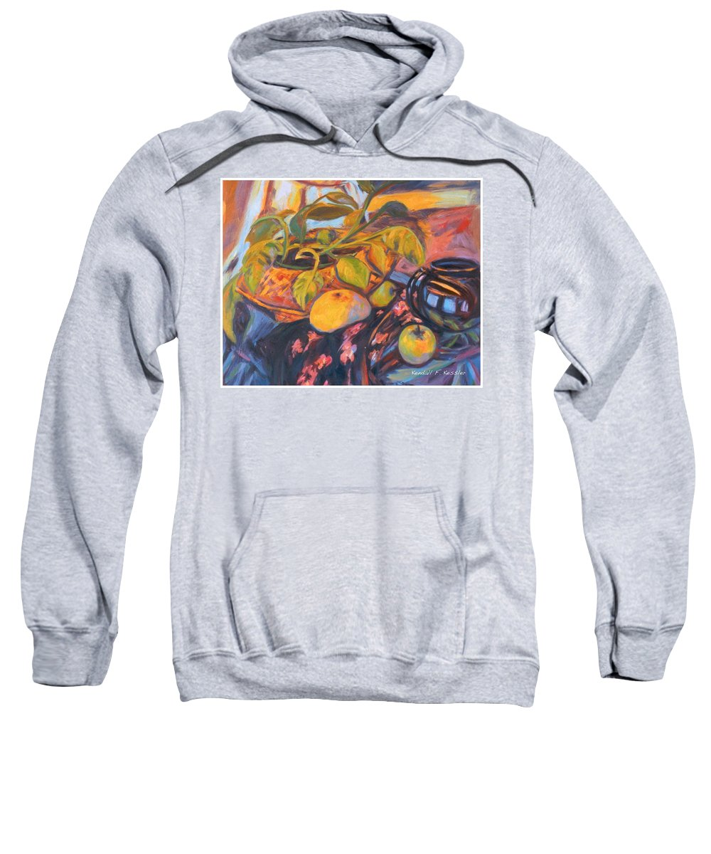 Still Life Sweatshirt featuring the painting Pollys Plant by Kendall Kessler