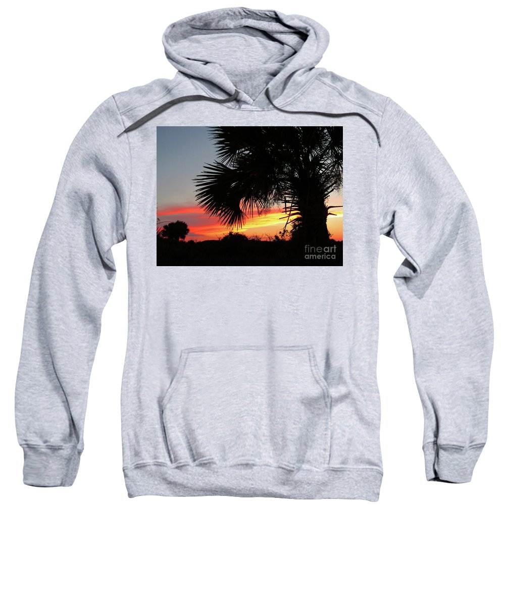 Sunset Sweatshirt featuring the photograph Ponce Inlet Florida Sunset by Ron Tackett