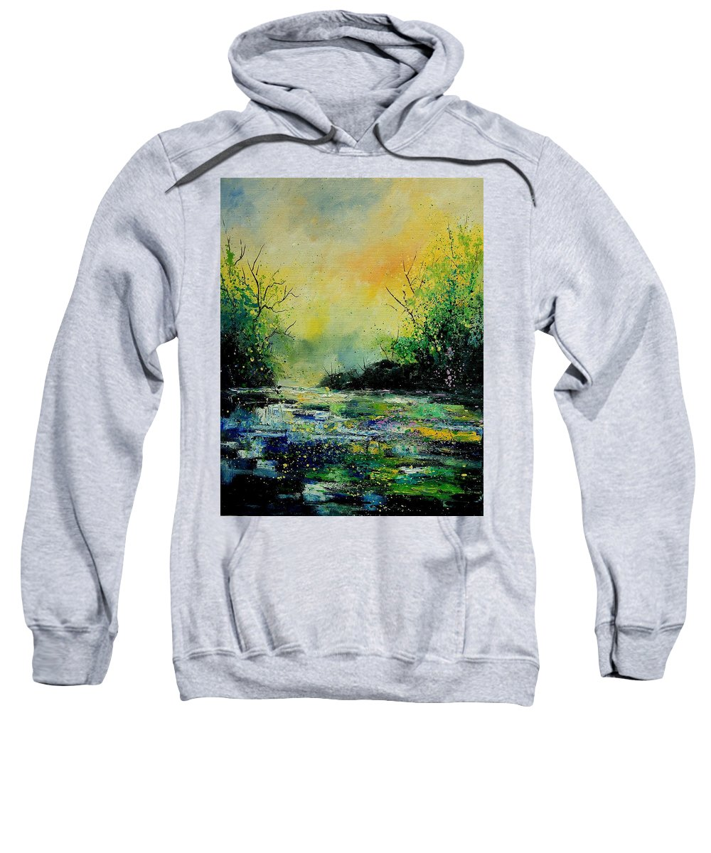 Water Sweatshirt featuring the painting Pond 459060 by Pol Ledent
