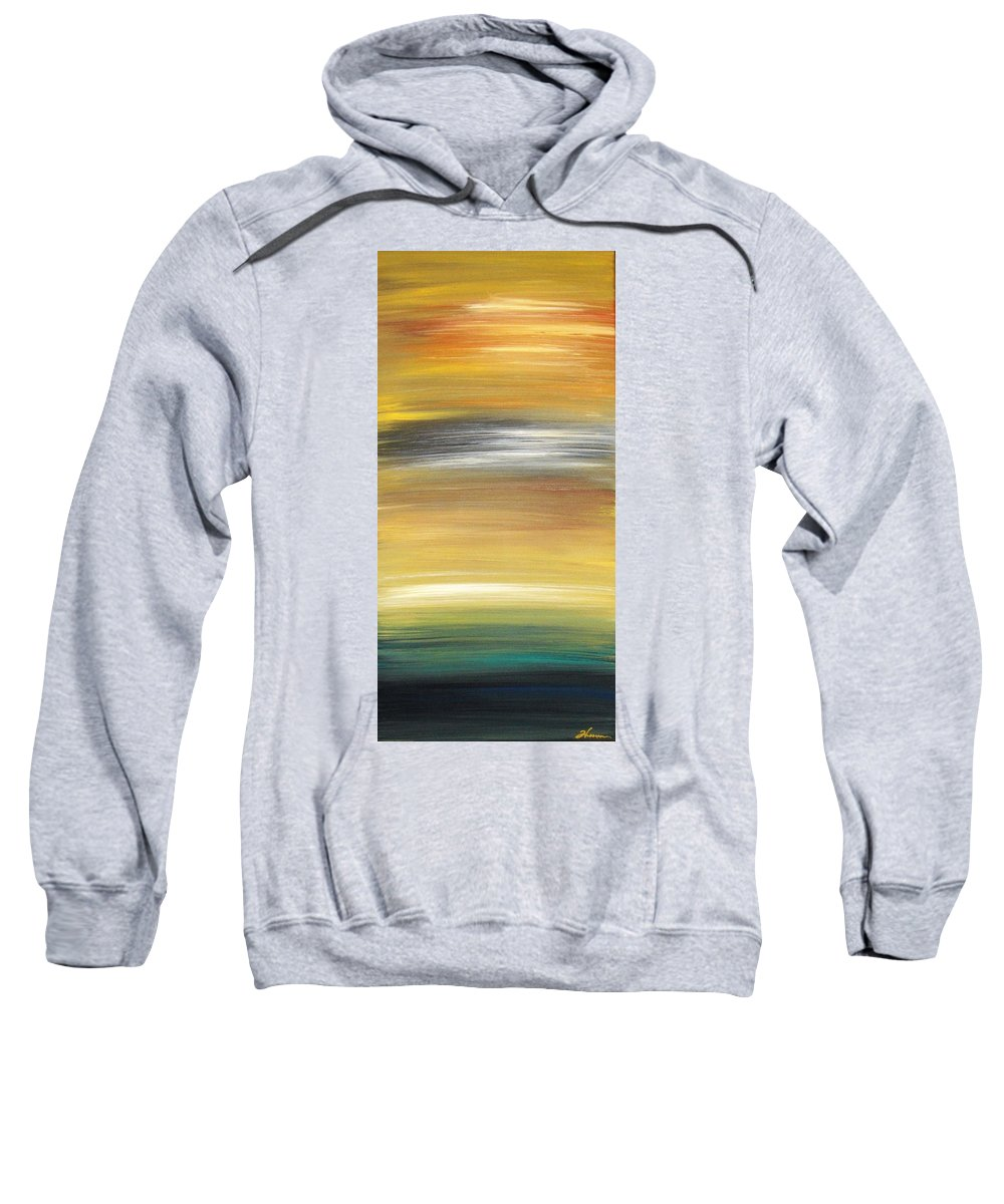 Waves Sweatshirt featuring the painting Pond by Todd Hoover