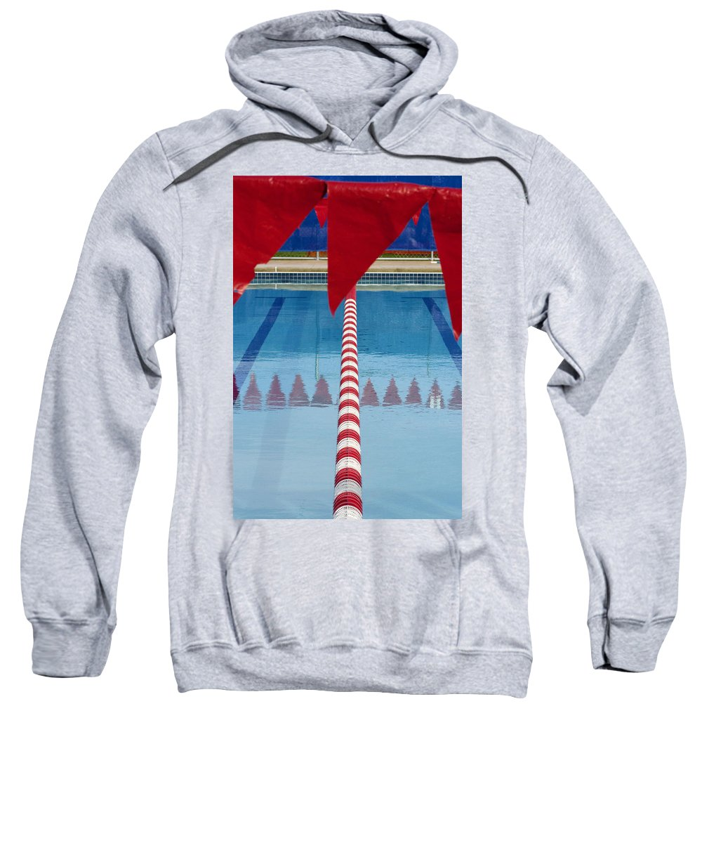 Flag Sweatshirt featuring the photograph Pool by Skip Hunt