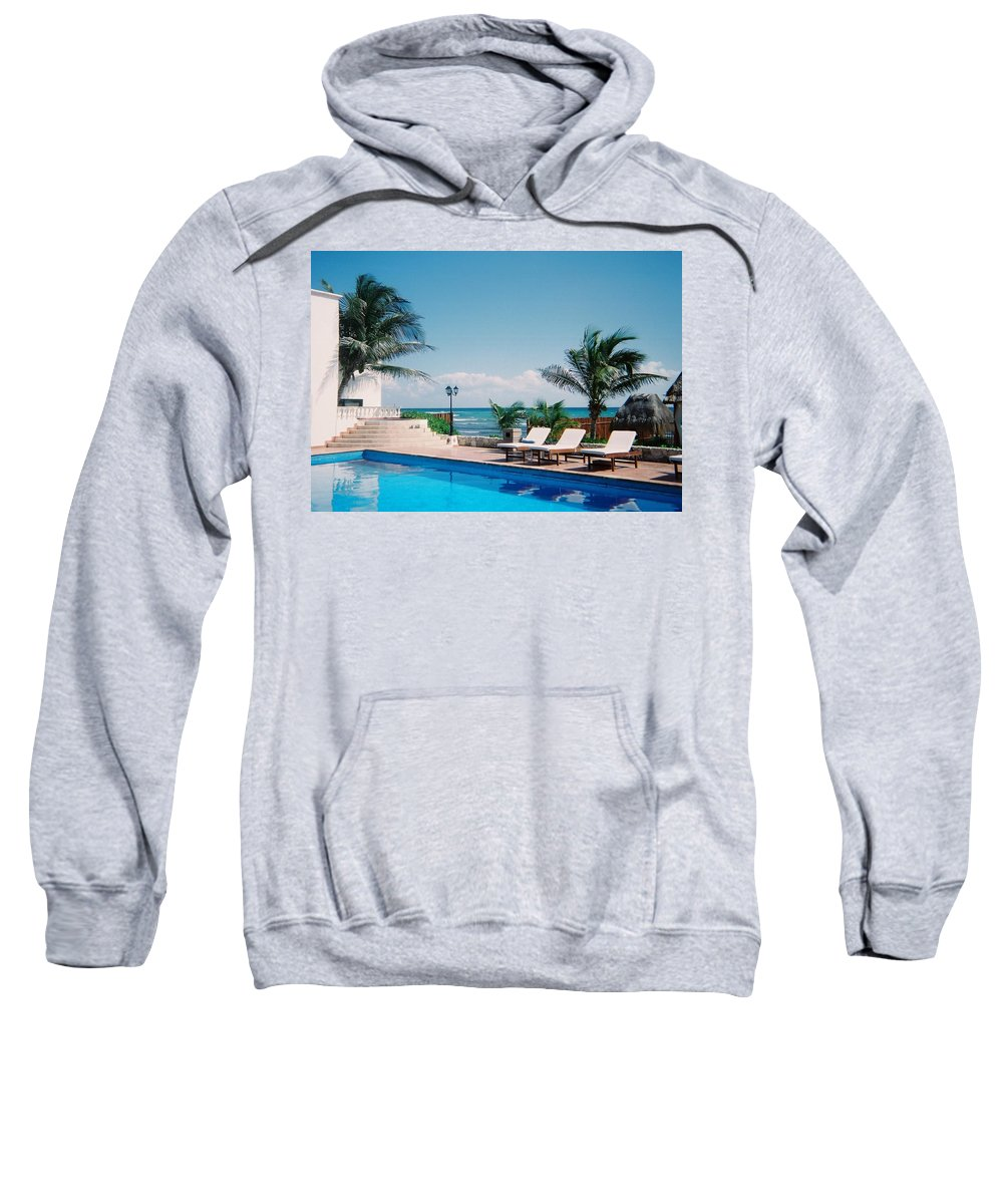 Resort Sweatshirt featuring the photograph Poolside by Anita Burgermeister