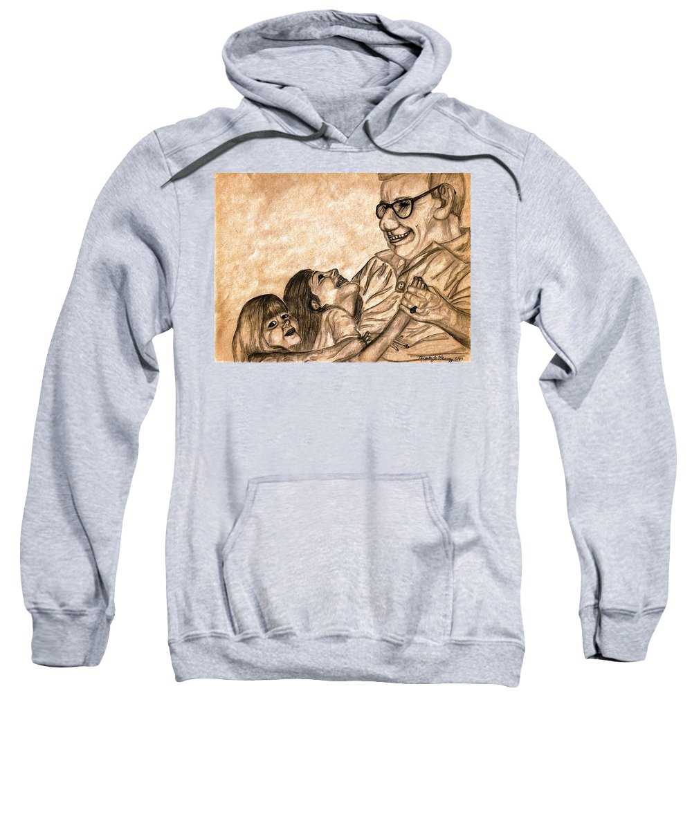 Pencil Drawing Sweatshirt featuring the photograph Pop And Us by Angela Murray
