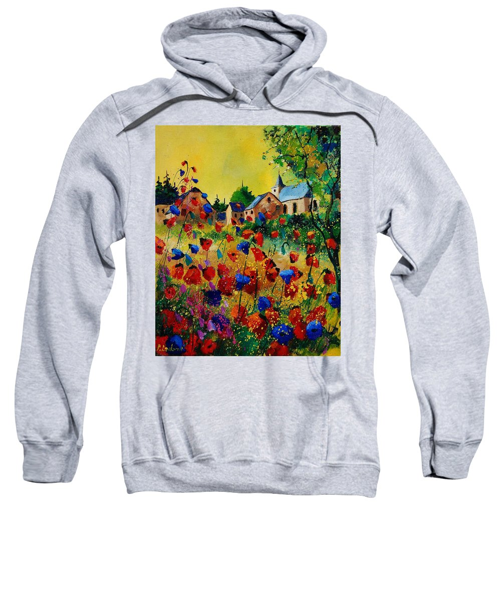 Flowers Sweatshirt featuring the painting Poppies Sosoye by Pol Ledent
