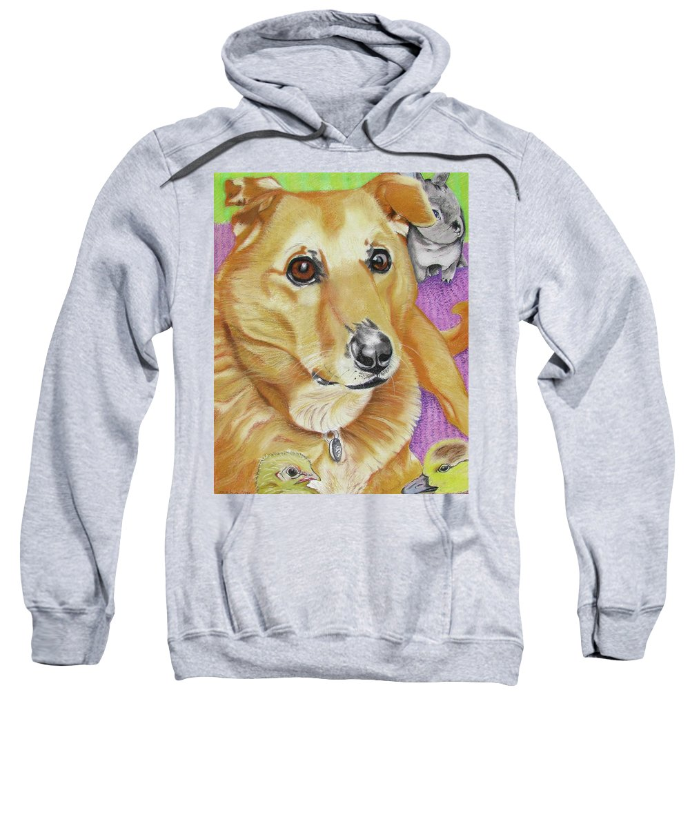 Dog Painting Sweatshirt featuring the painting Poppy by Michelle Hayden-Marsan