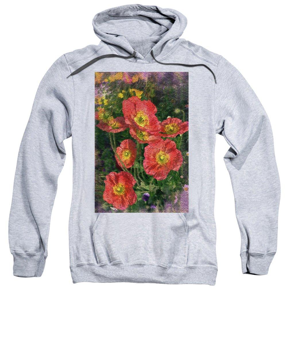 Watercolor Sweatshirt featuring the photograph Poppy Portrait by Vanessa Thomas