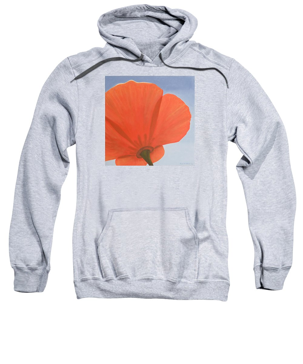 Flower Sweatshirt featuring the painting Poppy by Rob De Vries