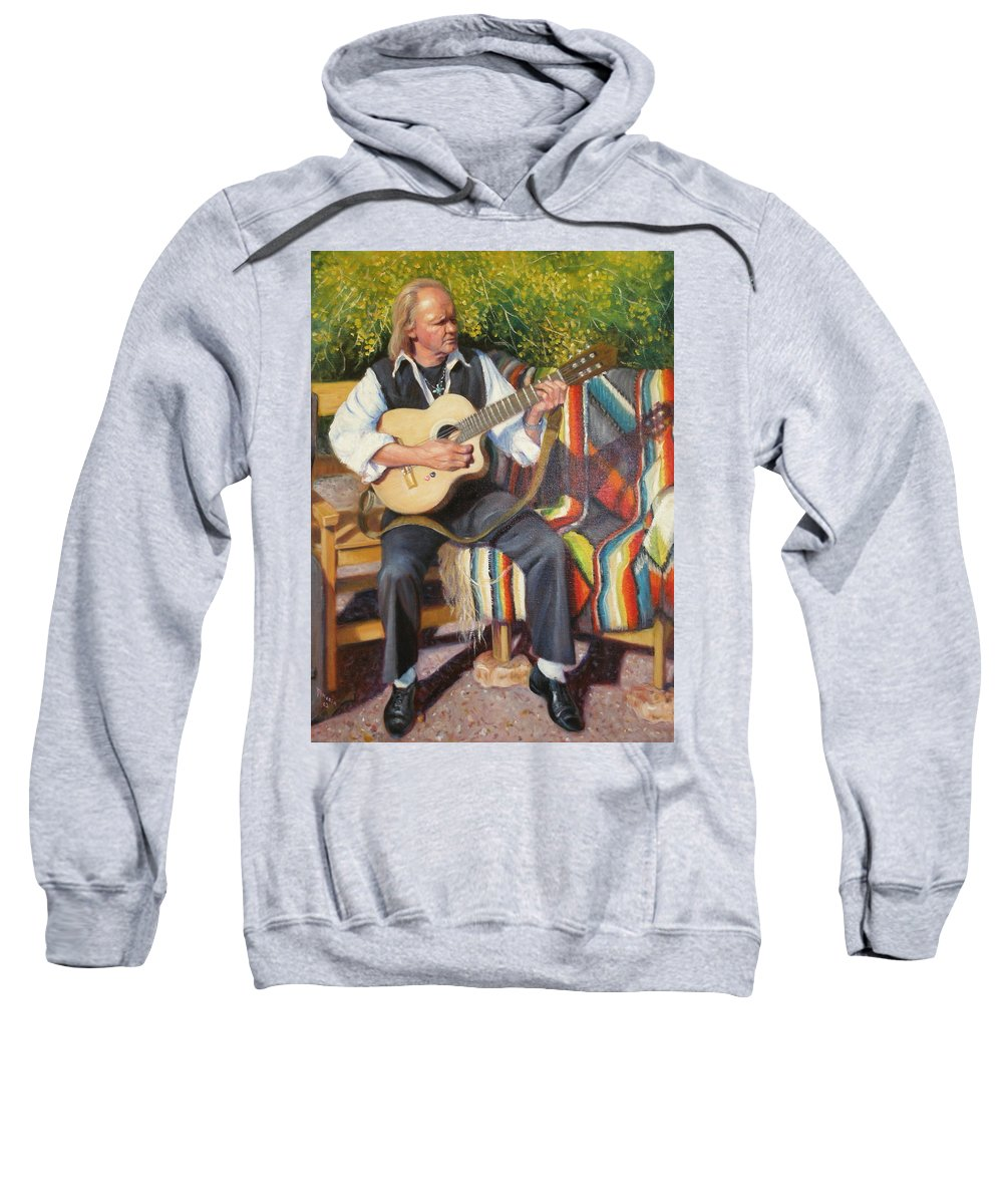 Realism Sweatshirt featuring the painting Por tu Amor by Donelli DiMaria