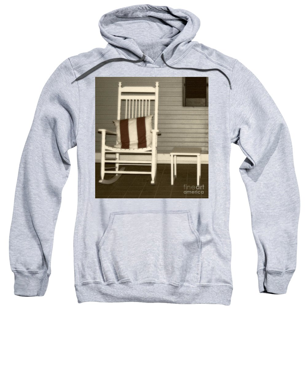 Rocking Chair Sweatshirt featuring the photograph Porch Rocker by Debbi Granruth