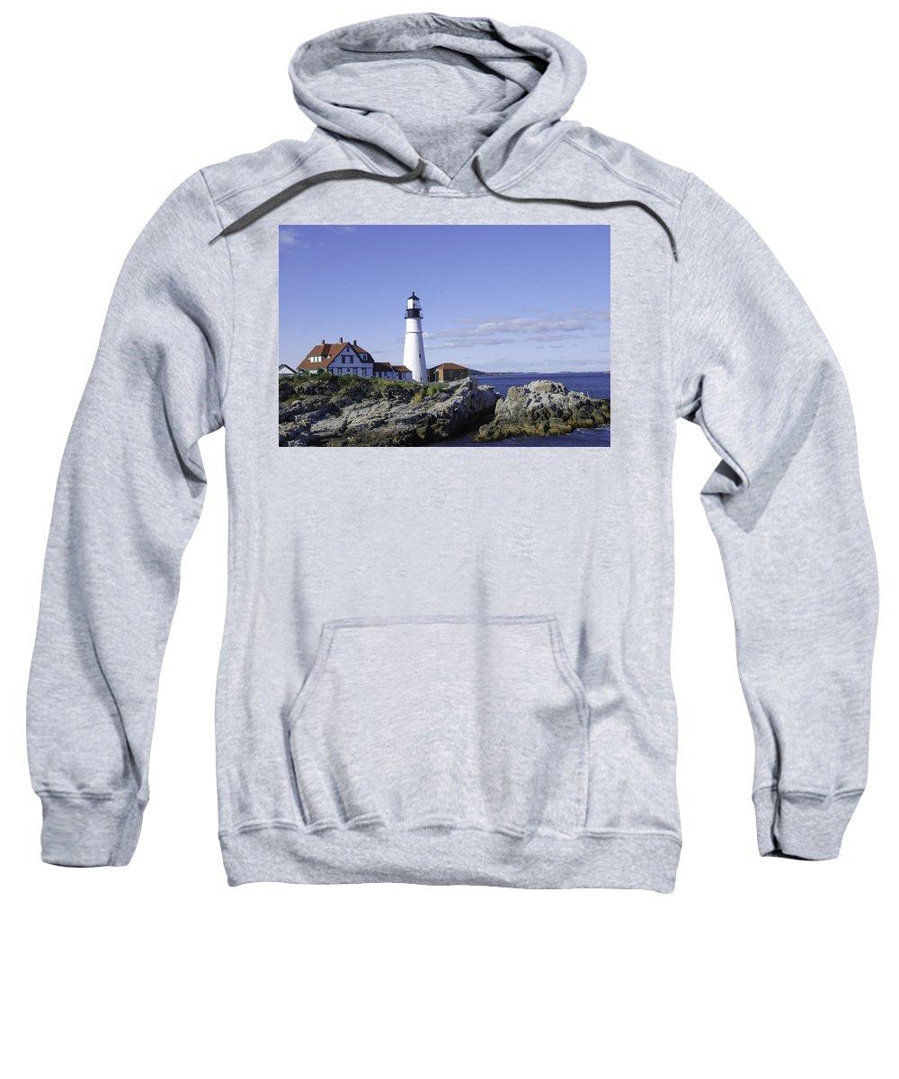 Portland Head Lighthouse Sweatshirt featuring the photograph Portland Head Lighthouse by Phyllis Taylor