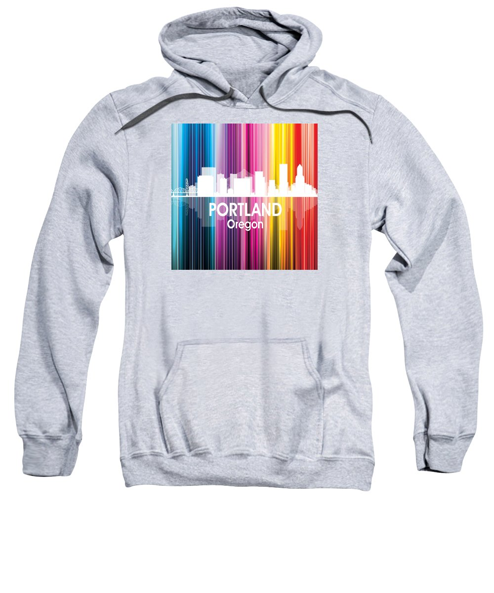 Portland Sweatshirt featuring the digital art Portland Or 2 Squared by Angelina Tamez