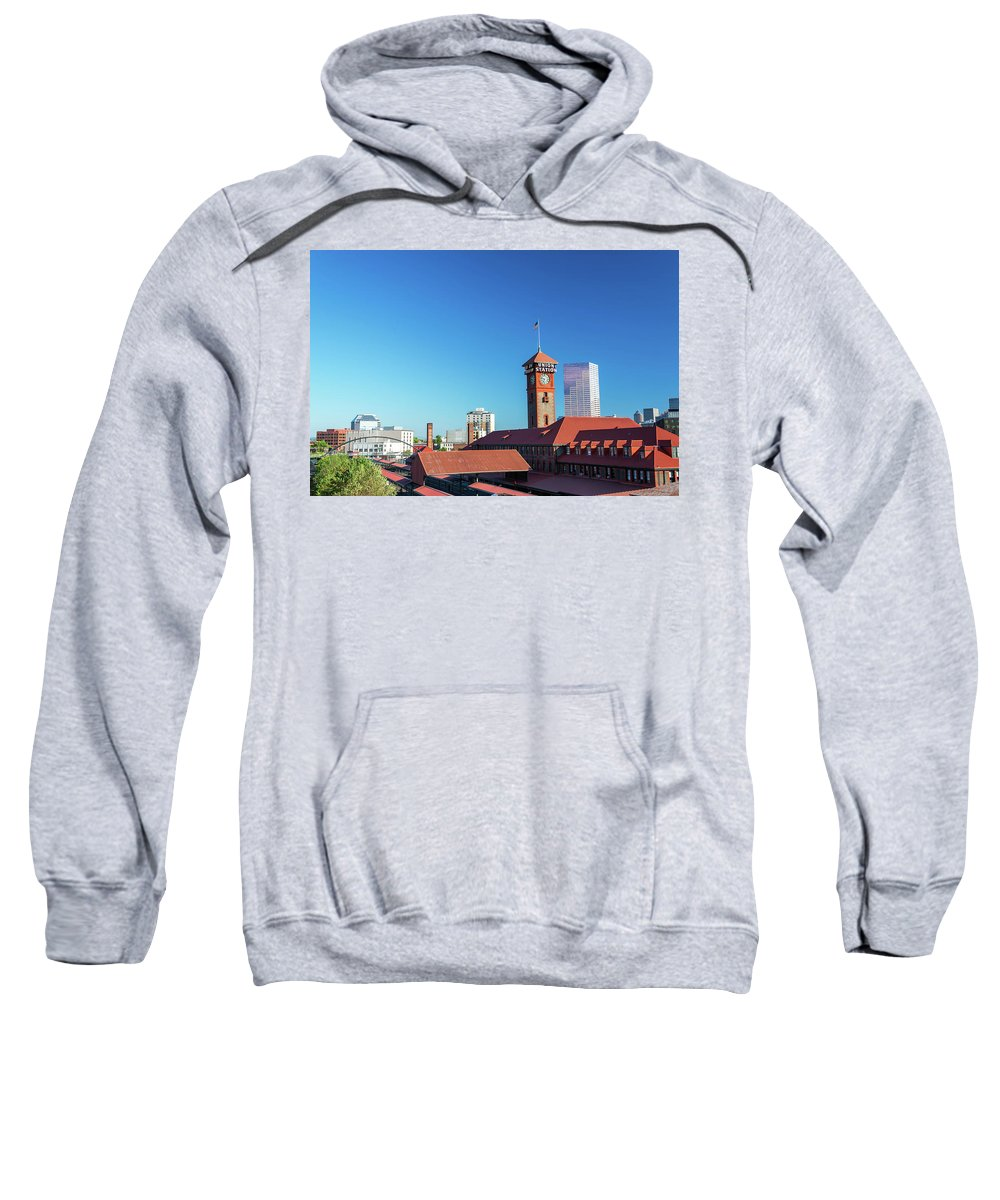 Portland Sweatshirt featuring the photograph Portland Oregon And Train Station by Jess Kraft