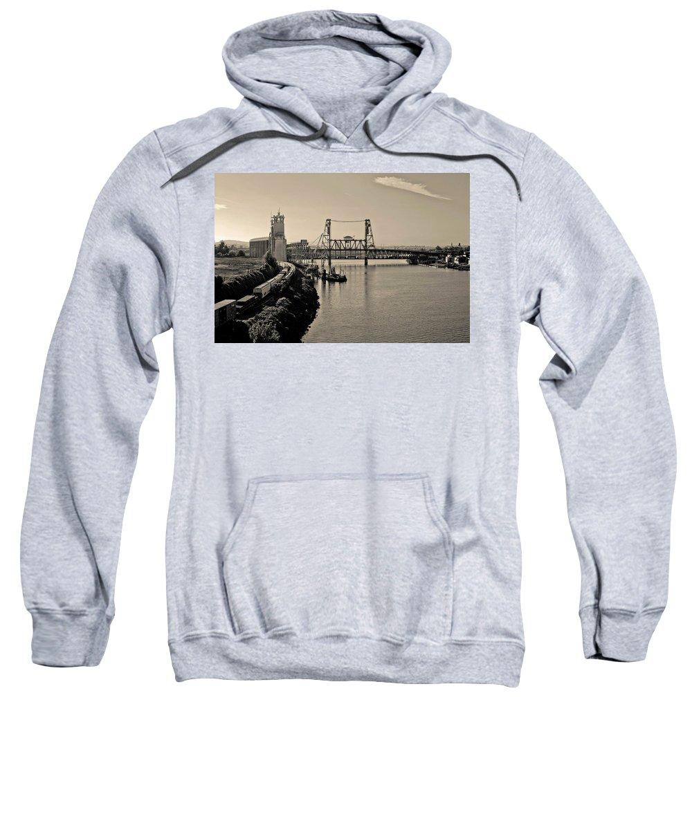 Portland Sweatshirt featuring the photograph Portland Steel Bridge by Albert Seger