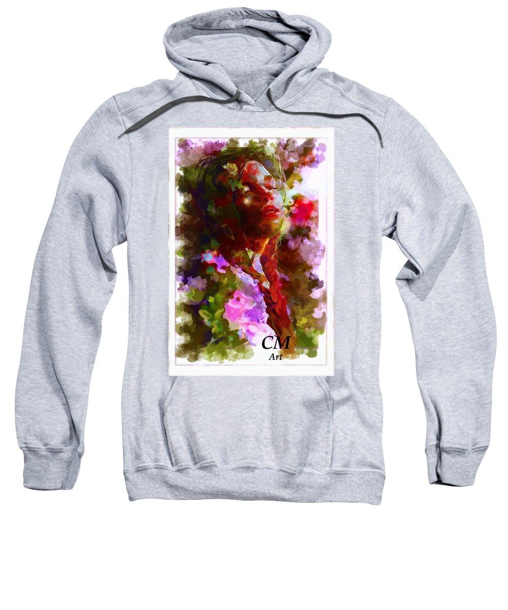 Digital Portrait Painting Sweatshirt featuring the painting Portrait 8 by Carrley Mason