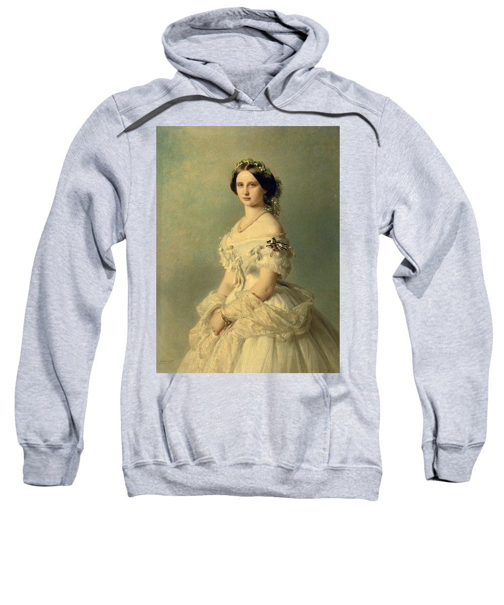 Portrait Sweatshirt featuring the painting Portrait Of Princess Of Baden by Franz Xaver Winterhalter