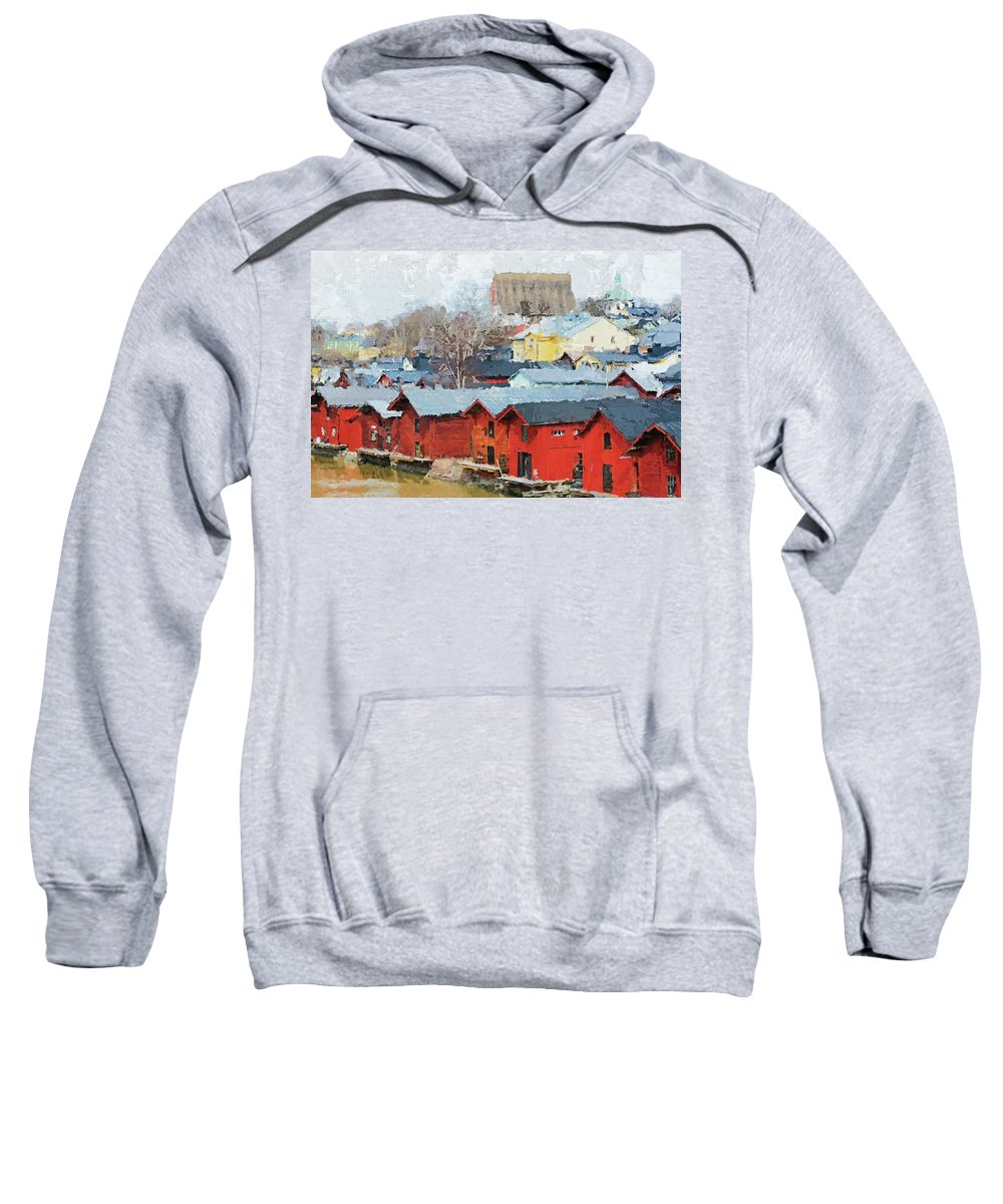 Old Sweatshirt featuring the photograph Porvoo Town by Pekka Liukkonen