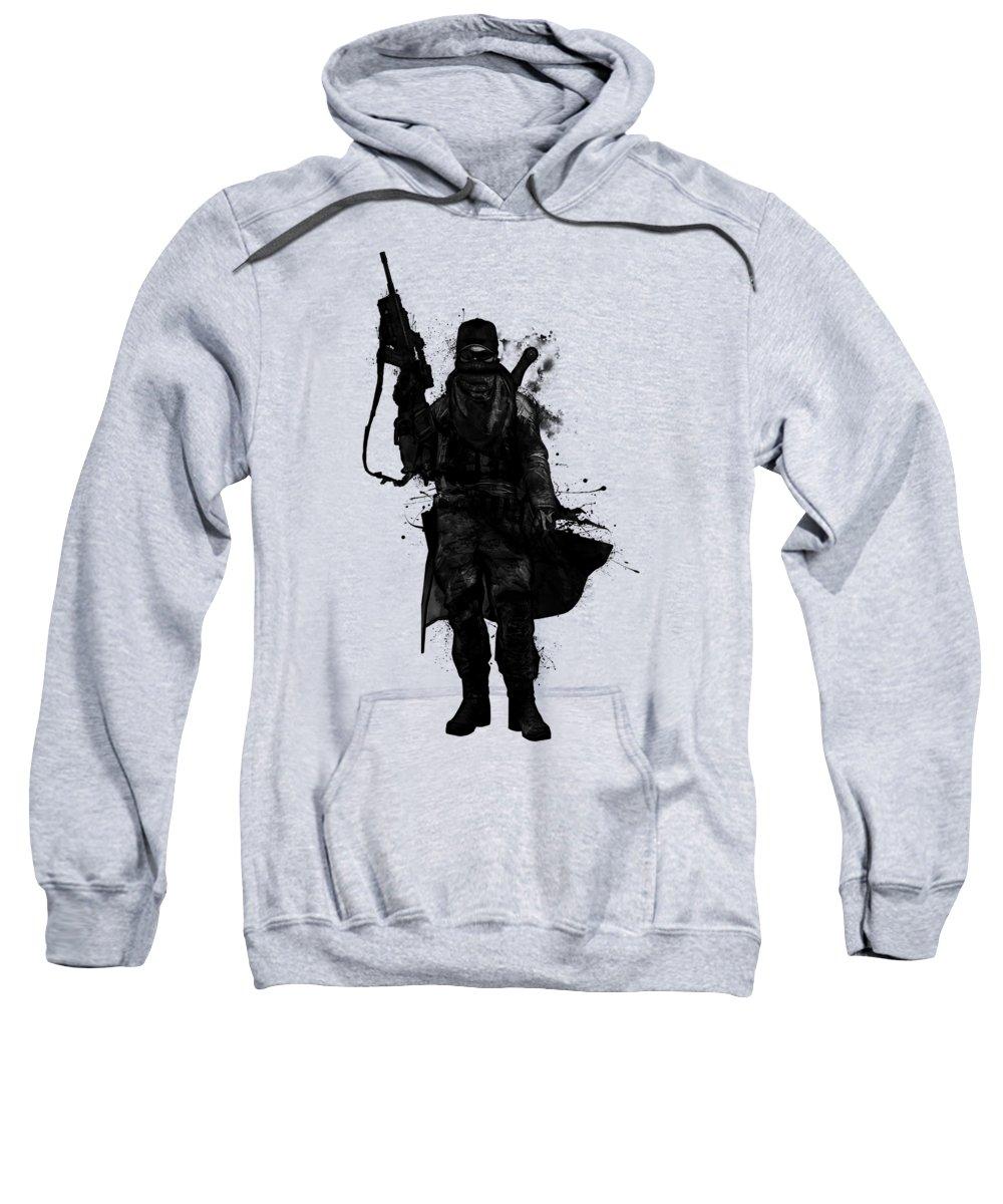 Warrior Sweatshirt featuring the digital art Post Apocalyptic Warrior by Nicklas Gustafsson