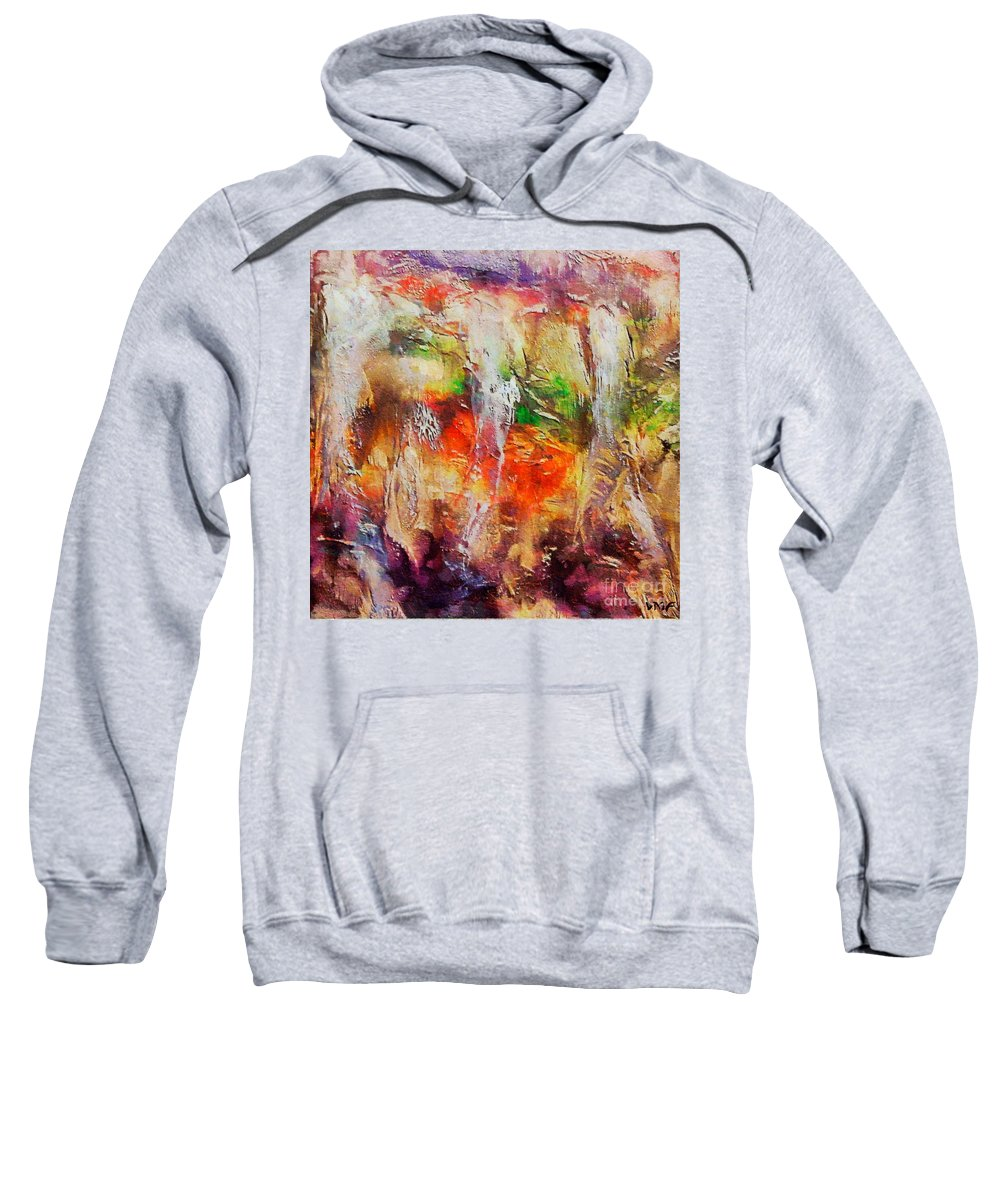Cave Sweatshirt featuring the painting Postojna Cave by Dragica Micki Fortuna