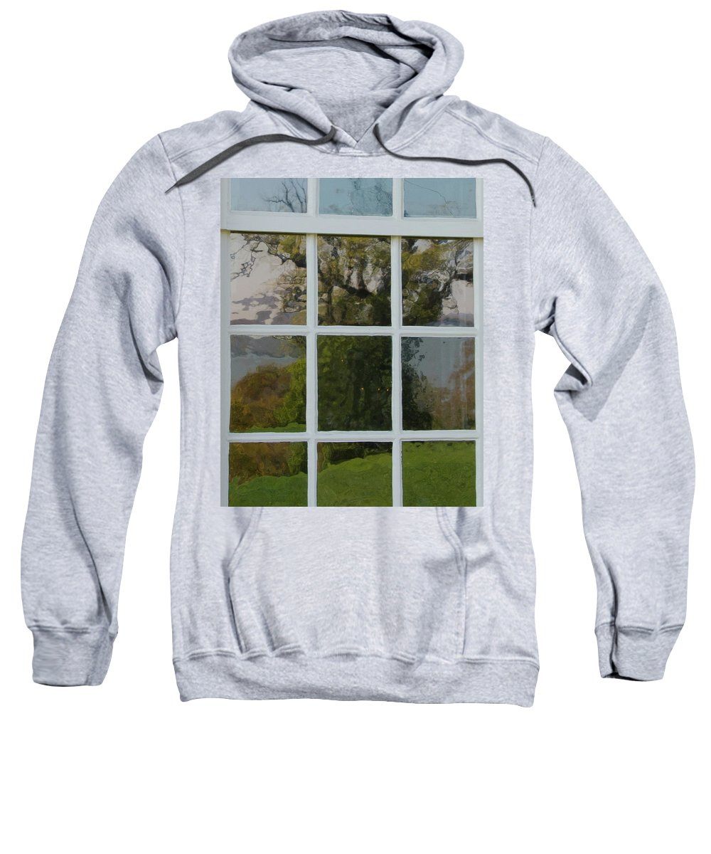 Window Sweatshirt featuring the photograph Potomac River Valley On Mount Vernon by Larry Umenhofer