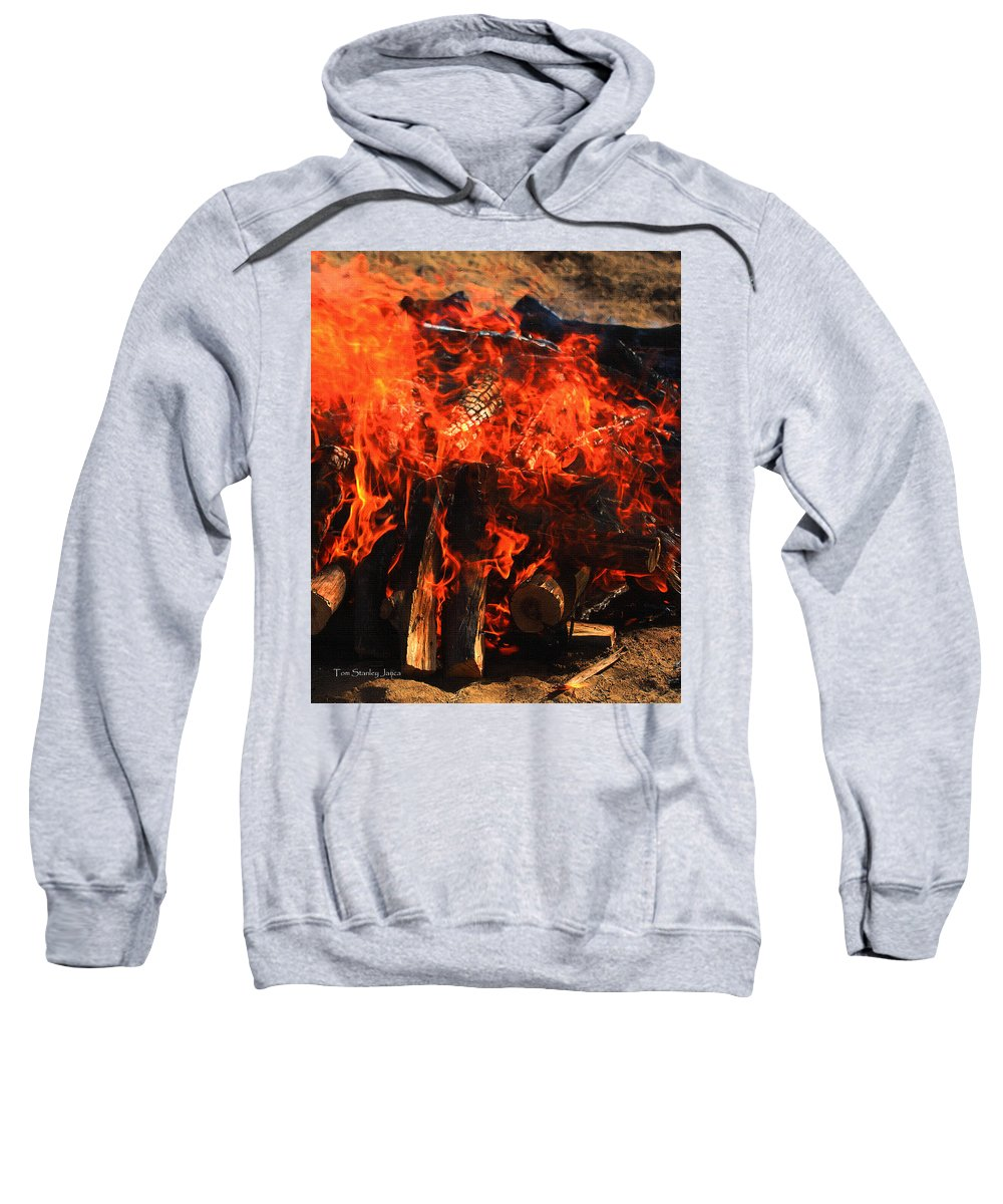 Pots In The Kiln Sweatshirt featuring the photograph Pots In The Kiln by Tom Janca