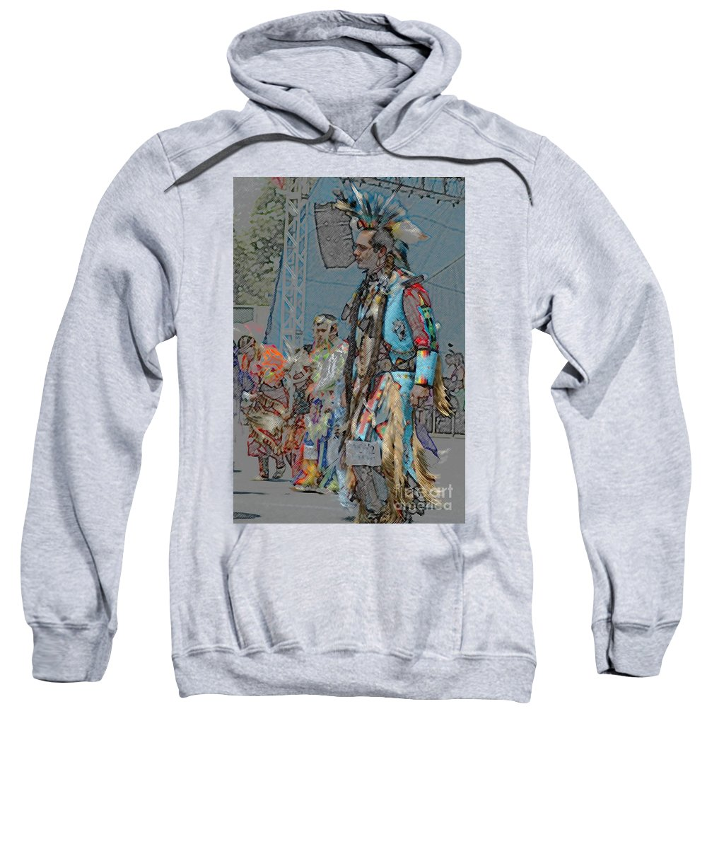 Native Sweatshirt featuring the photograph Pow Wow Competition by Kathleen Struckle
