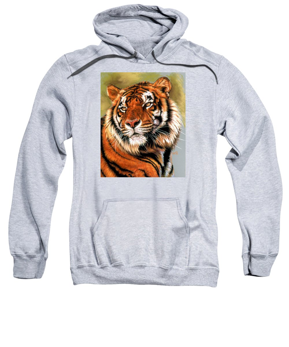Tiger Sweatshirt featuring the pastel Power And Grace by Barbara Keith