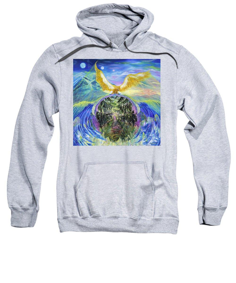 'inspiration Sweatshirt featuring the painting Power Of Great Spirit by Regina Wirsich Roberts