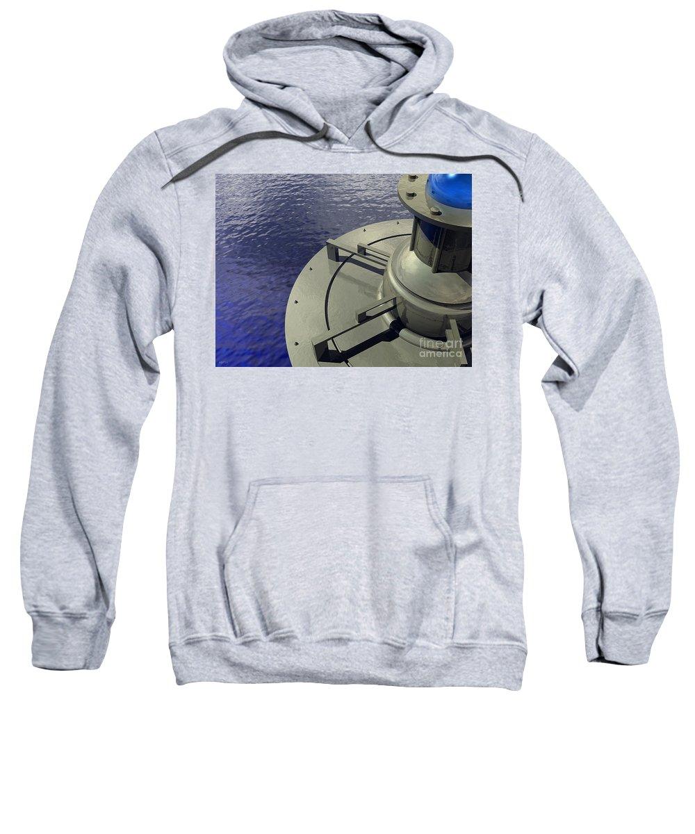 Power Sweatshirt featuring the digital art Power Platform #2 by Phil Perkins
