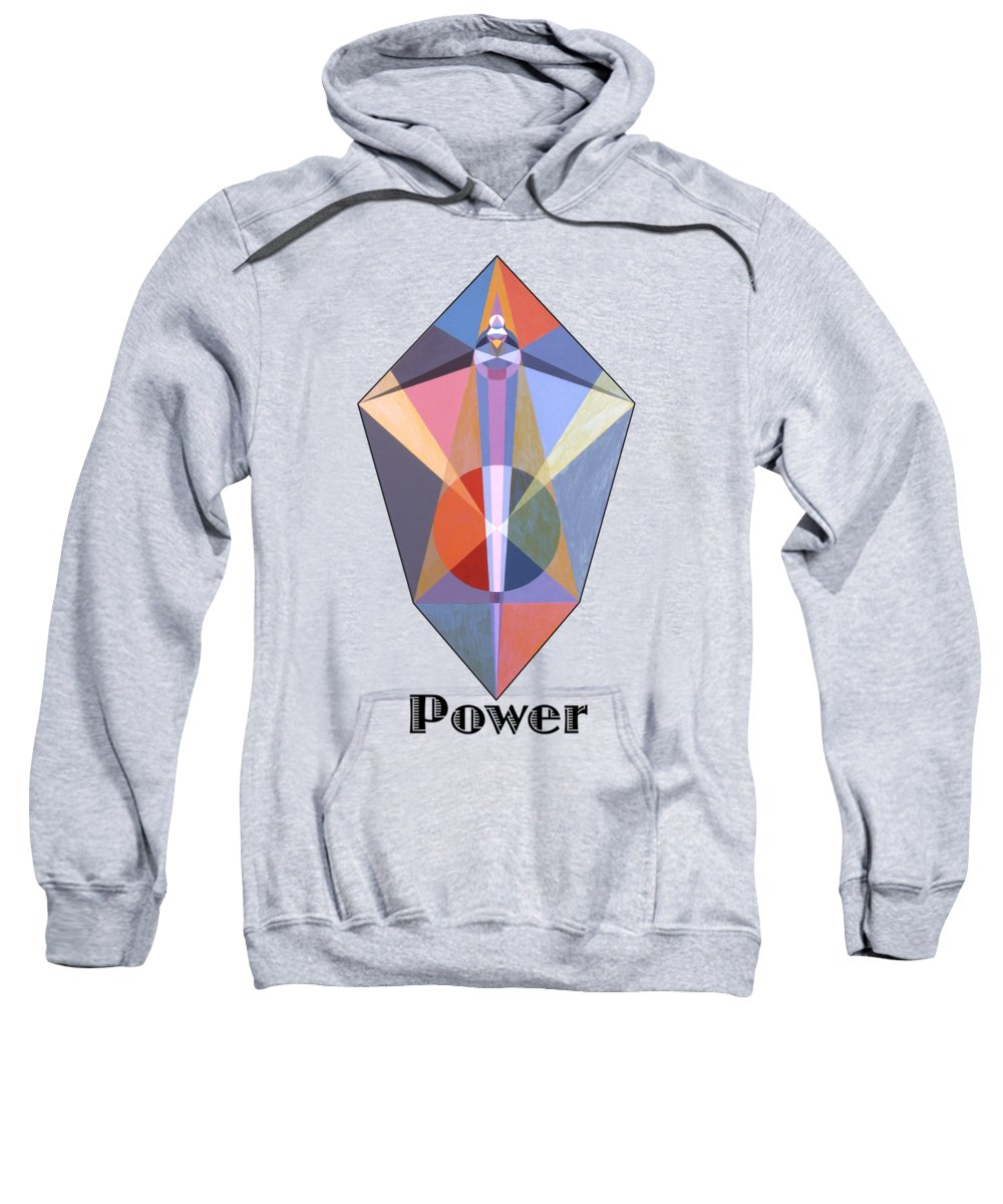 Painting Sweatshirt featuring the painting Power text by Michael Bellon