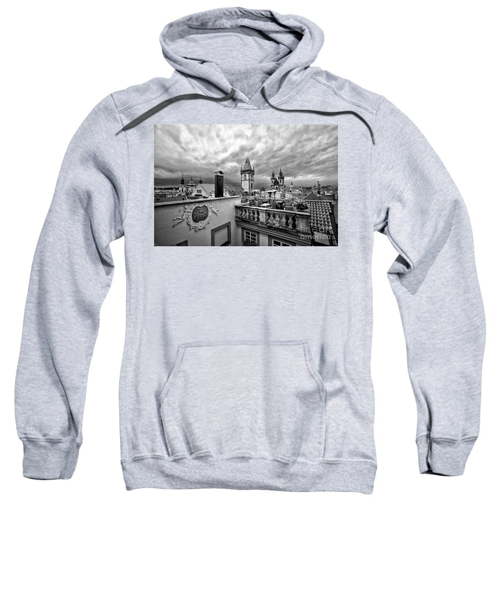 Prague Sweatshirt featuring the photograph Prague View From The Top by Madeline Ellis