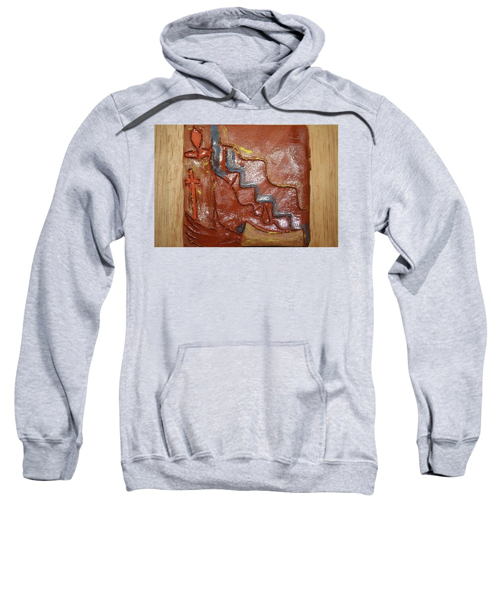 Jesus Sweatshirt featuring the ceramic art Prayer 24 - Tile by Gloria Ssali