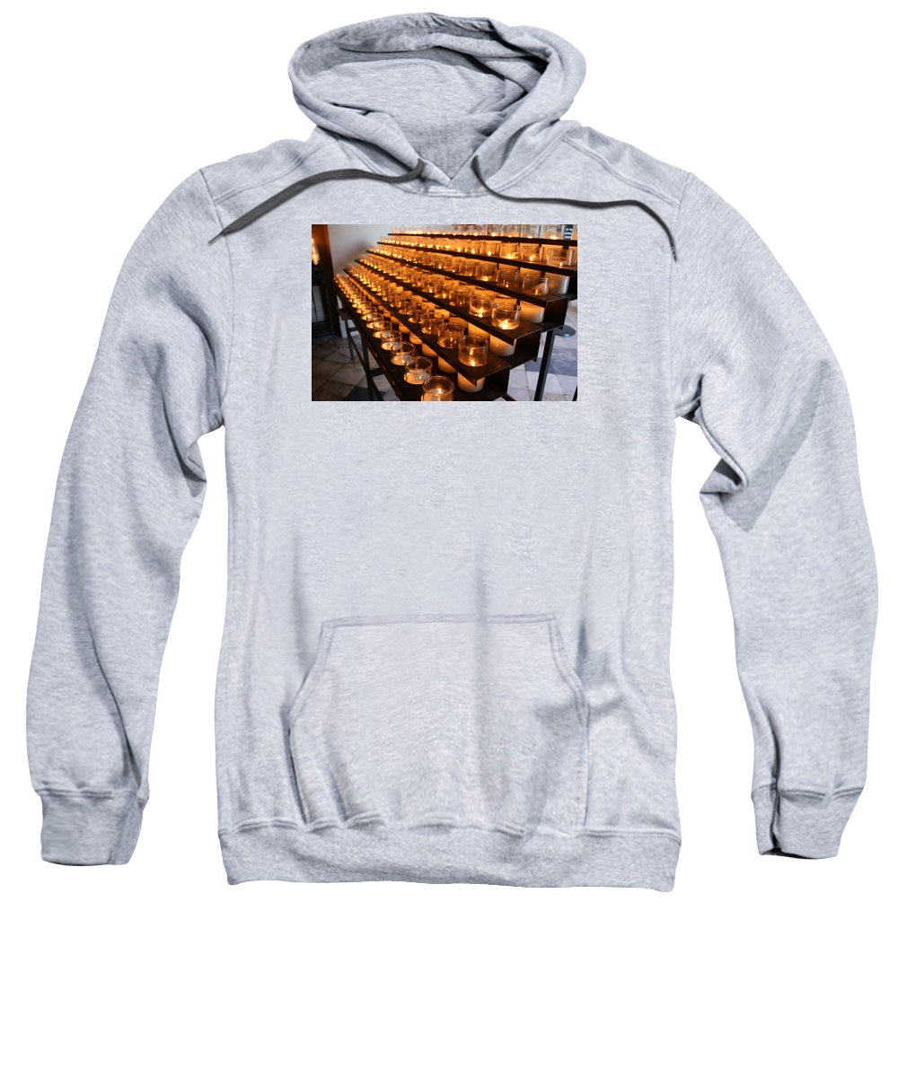 Church Sweatshirt featuring the photograph Prayer Candles by Todd Reynolds
