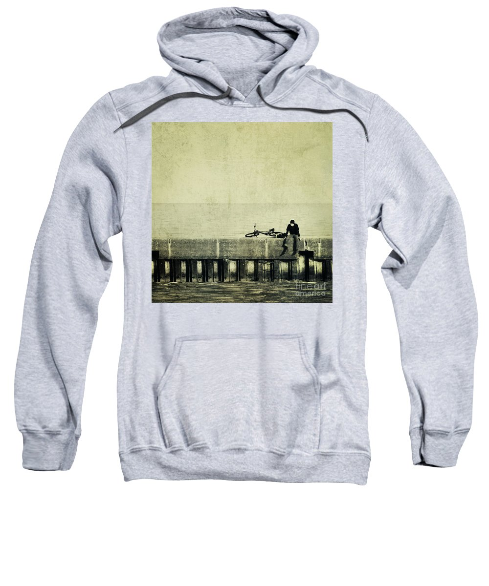 Man Sweatshirt featuring the photograph Praying To A God I Dont Believe In by Dana DiPasquale