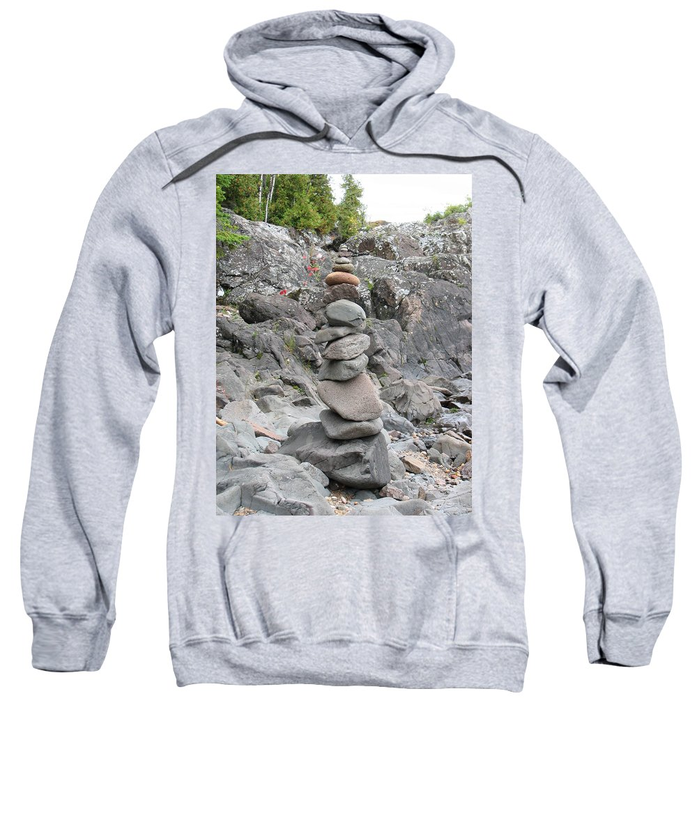 Stones Sweatshirt featuring the photograph Precarious by Kelly Mezzapelle