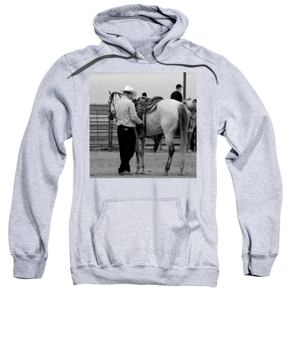 Rodeo Sweatshirt featuring the photograph Preparing by Scott Sawyer