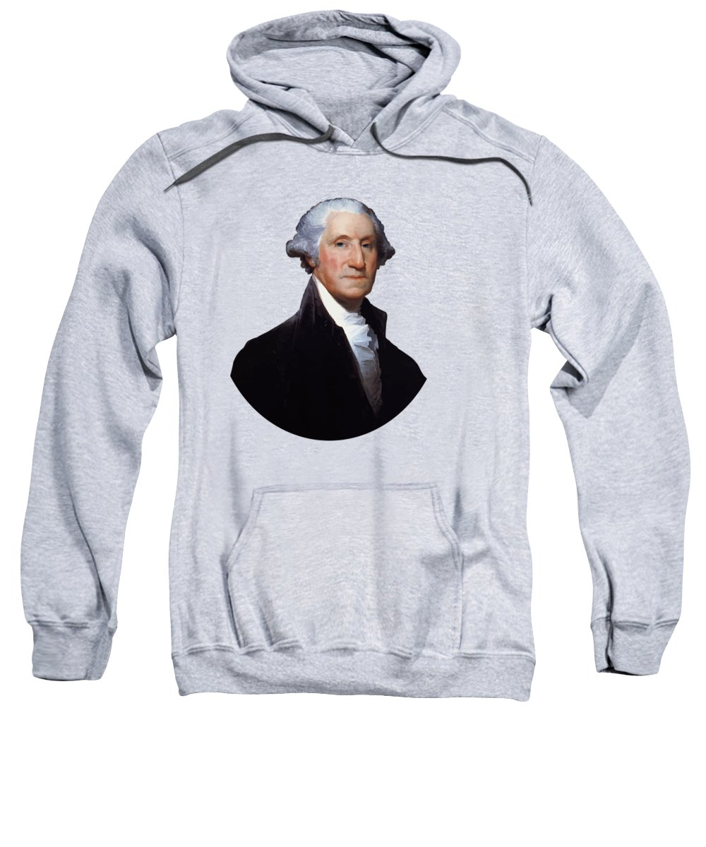 George Washington Sweatshirt featuring the painting President George Washington by War Is Hell Store