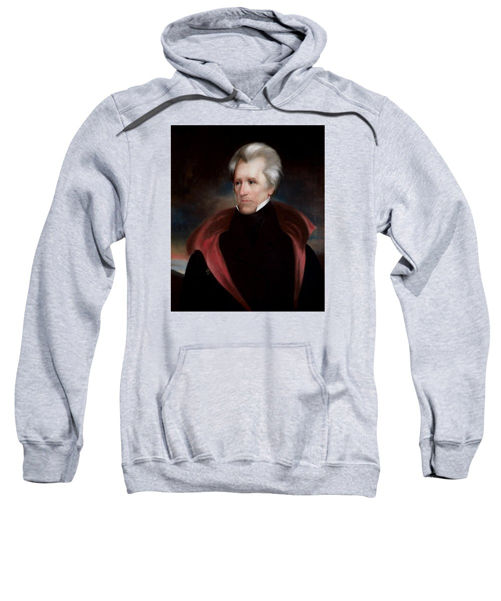 Andrew Jackson Sweatshirt featuring the painting President Jackson by War Is Hell Store