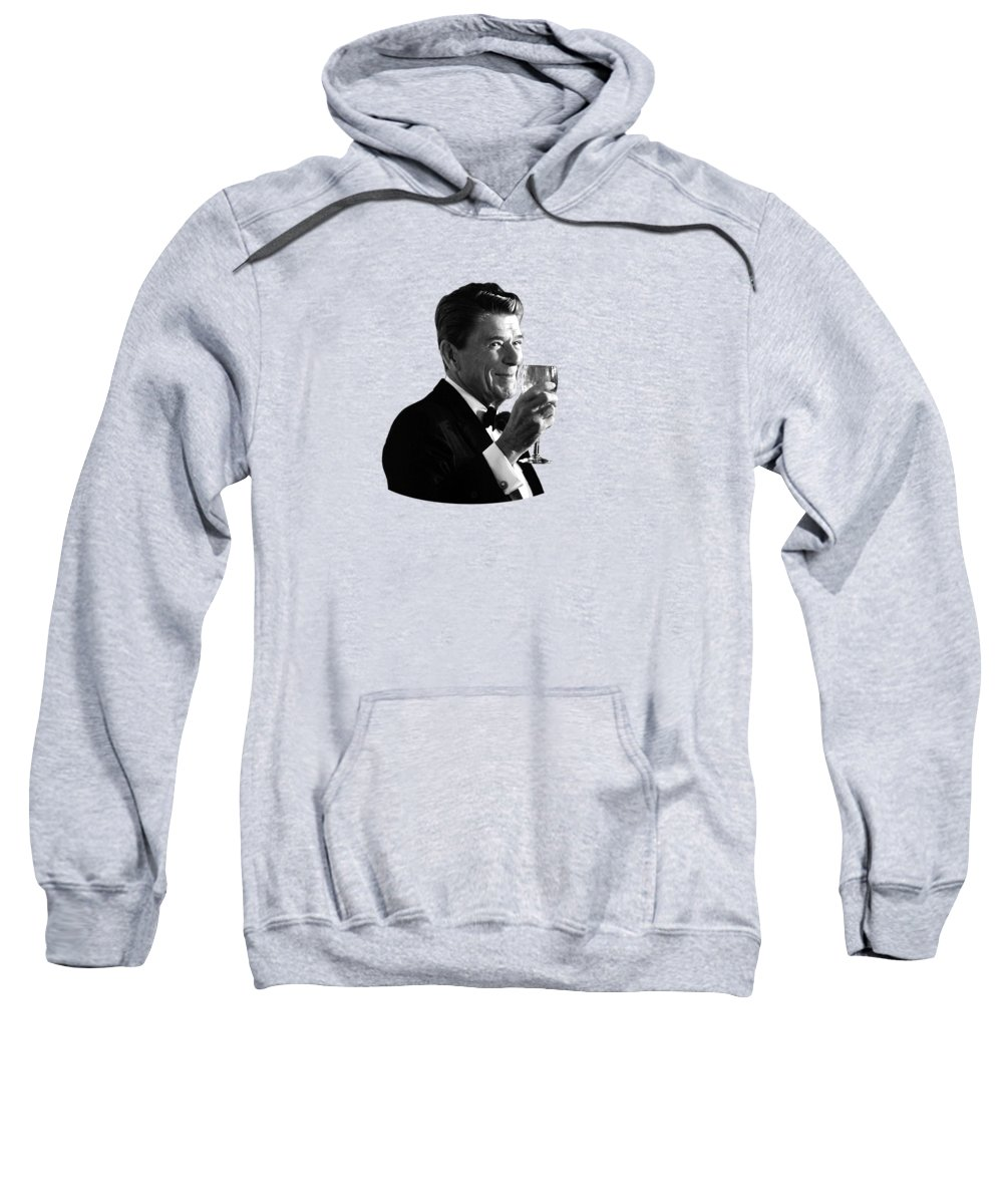 Ronald Reagan Sweatshirt featuring the painting President Reagan Making A Toast by War Is Hell Store