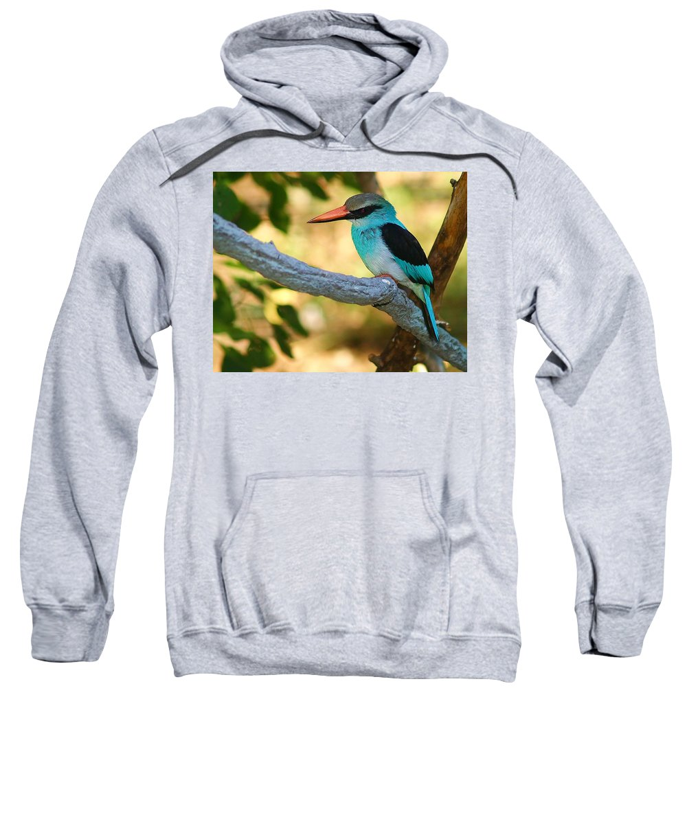 Kingfisher Sweatshirt featuring the photograph Pretty Bird by Gaby Swanson