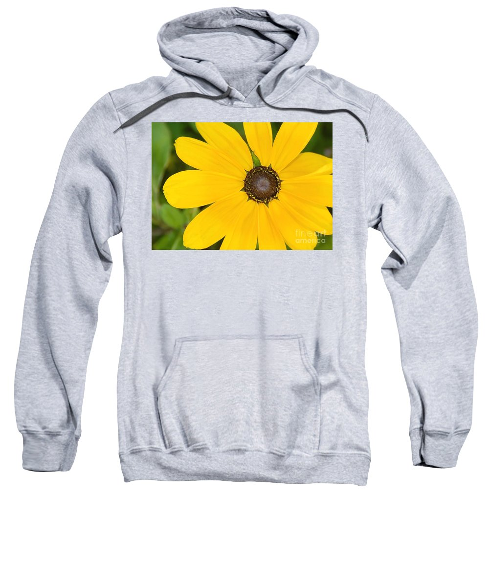 Yellow Flower Sweatshirt featuring the photograph Pretty In Yellow by David Lee Thompson
