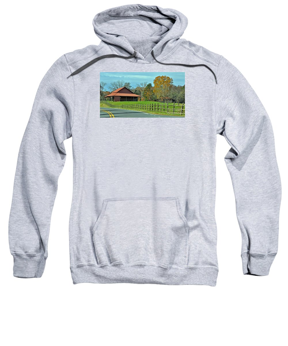 Sweatshirt featuring the photograph Pretty Scene In The Hills by Lydia Holly