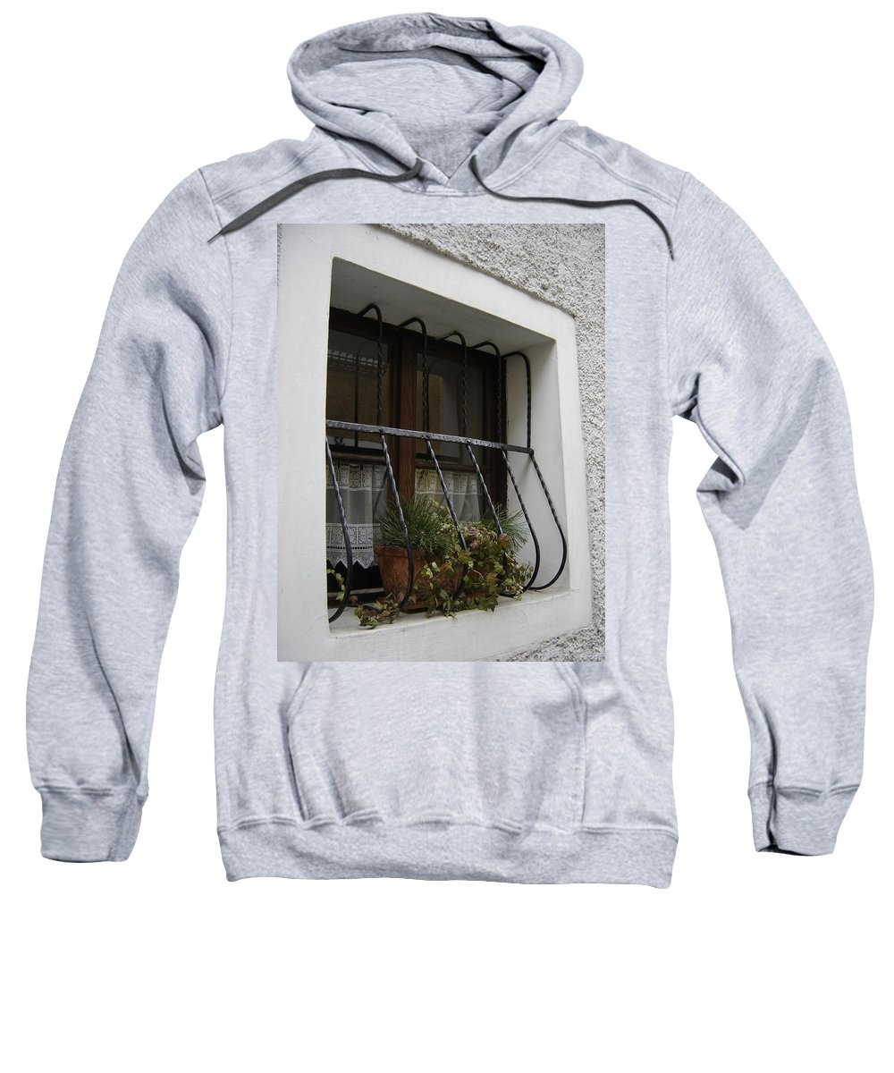 Window Sweatshirt featuring the photograph Pretty Window by Mary Rogers