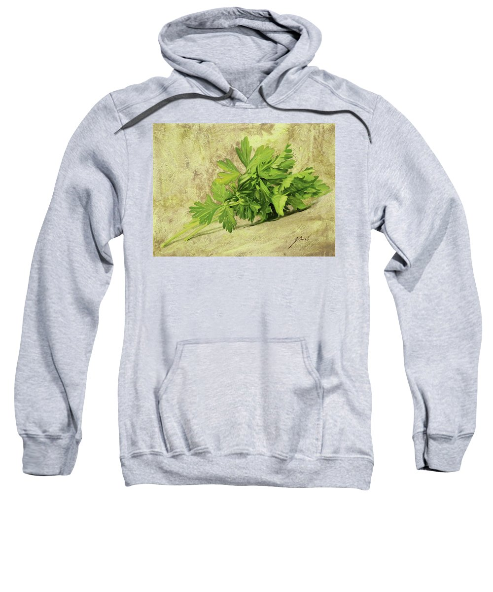 Parsley Sweatshirt featuring the painting Prezzemolo by Guido Borelli