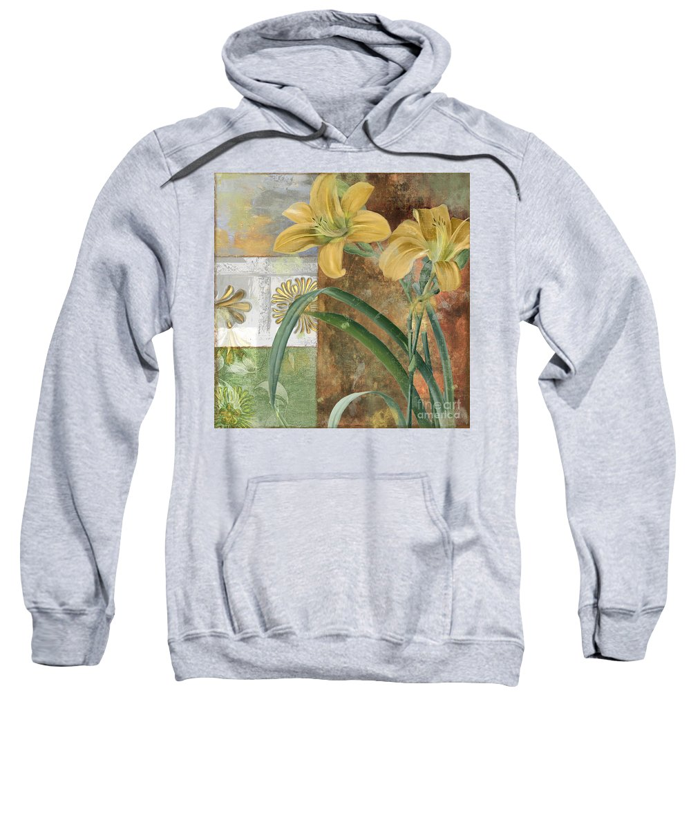 Lily Sweatshirt featuring the painting Primavera II by Mindy Sommers